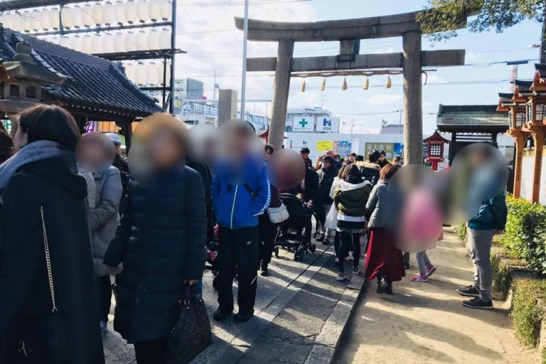 【泉大津】行列ができる大津神社の初詣!どんど焼きは15日の9時からです